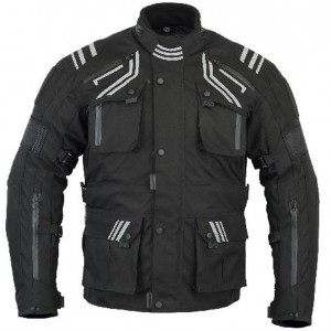 The GloRider Black Waterproof Breathable Vented Motorcycle Jacket CE-1621-1