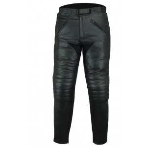 Black Tab Mens CE 1621-1 PU Armour Tour Leather Motorcycle Jeans Trousers Comfort Fit
