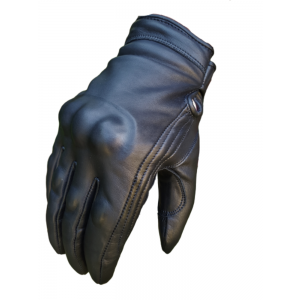 Revolver Black Short Cruiser motorcycle Waterproof Bobber Gloves Busa by Bikers Gear