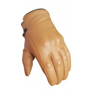 Revolver Tan Short Cruiser motorcycle Waterproof Bobber Gloves Busa by Bikers Gear