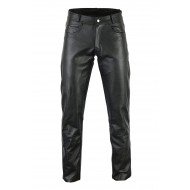 The Hog Motorcycle Bovine Cowhide Leather 5 Pocket Bikers Harley Jeans Trousers Womens - Busa by Bikers Gear