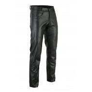 The Hog Motorcycle Bovine Cowhide Leather 5 Pocket Bikers Harley Jeans Trousers Mens - Busa by Bikers Gear