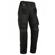 Bikers Gear Motorcycle Black Cargo Protective Trousers CE Armour Cordura Waterproof Winter Pants