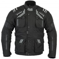 The GloRider Black Waterproof Breathable Vented Motorcycle Jacket CE-1621-1 Busa by Bikers Gear