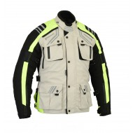 The GloRider Hi Vis Waterproof Breathable Vented Motorcycle High Visibility Jacket CE-1621-1 Busa by Bikers Gear