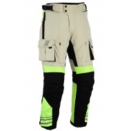 Bikers Gear GloRider Hi Visibility High Vis Waterproof Armoured Motorcycle Trousers CE 1621-1 Removable Armour