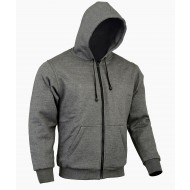 The CrossFire Grey Motorcycle FULL Aramid Protective Hoodie Removable CE 1621-1 armour - Busa by Bikers Gear