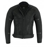 The Carrera Summer Air Mesh Motorcycle Black Jacket CE Armoured 1621-1 Cordura Waterproof - Busa by Bikers Gear