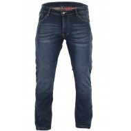 Mens Blue Kevlar Motorcycle Slight Stretch Comfort Fit 99 Jeans CE1621-1 Removable Armour