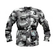 Grey Camo Camouflage Waterproof CE Armoured Vented Mens Motorcycle Waterproof Jacket